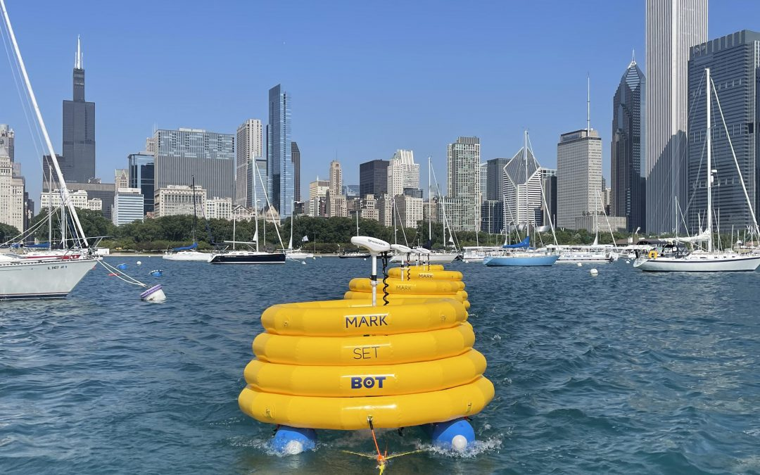 Sur l'hippodrome du Chicago Yacht Club